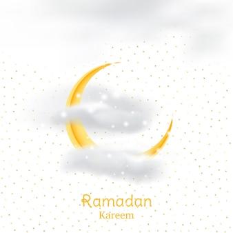 Fiesta musulmana del mes sagrado del ramadán kareem.