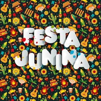 Fiesta del pueblo de festa junina en américa latina.