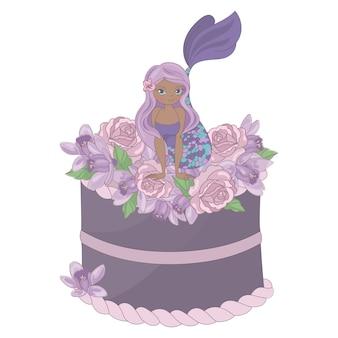 Fiesta de sirena floral dulce princesa