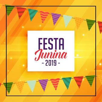 Fiesta tradicional decorativa de junina.