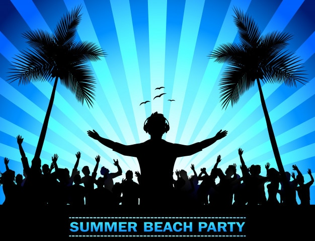 Fiesta de vacaciones de verano