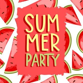 Fiesta de verano de sandia