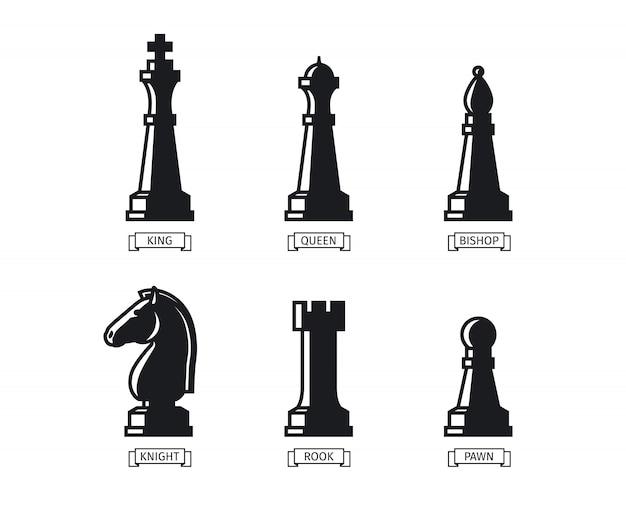Figuras de ajedrez con nombres
