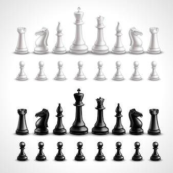 Figuras de ajedrez realistas