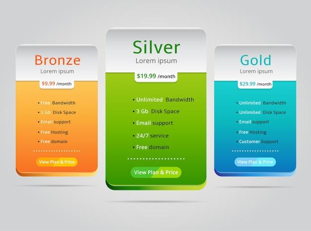 Fijación de precios para el banner del sitio web del plan. ilustración del vector