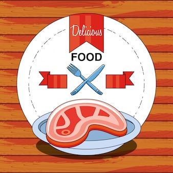 Filete de carne delicioso y saludable