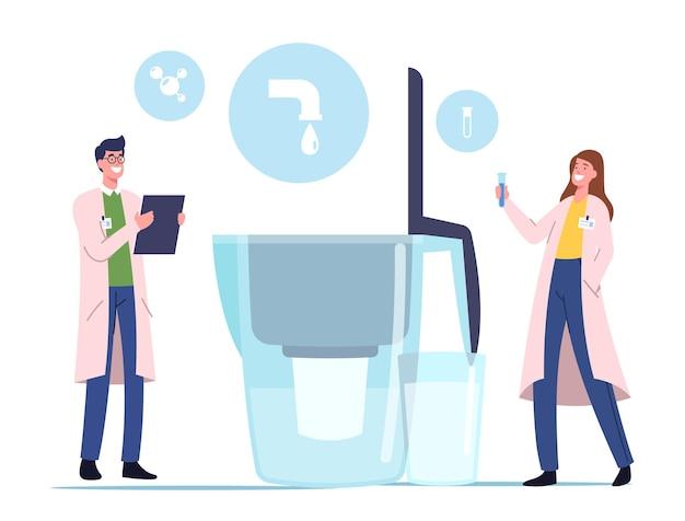 Filtración de agua, concepto de purificación