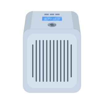 Filtro de aire para purificar el aire. ilustración de vector de estilo plano sobre un fondo blanco aislado.
