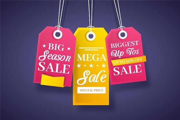 Fin de año venta ahorro conjunto de etiquetas colgantes