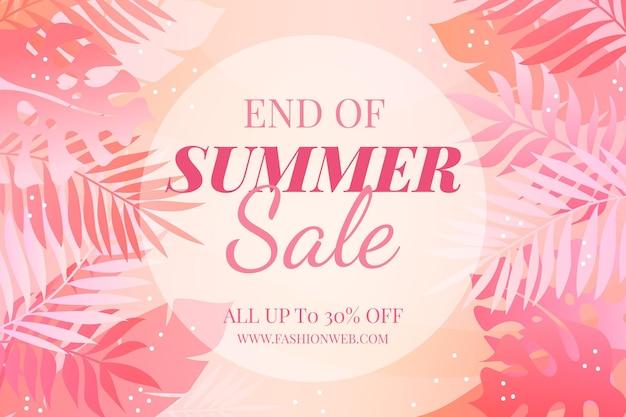 Fin de fondo de venta de verano