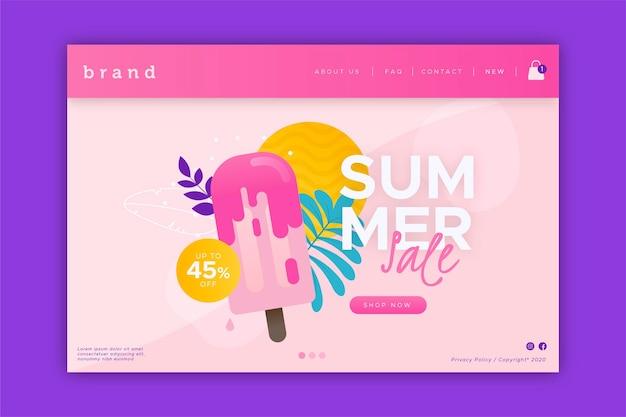 Fin de la página de inicio de la venta de verano