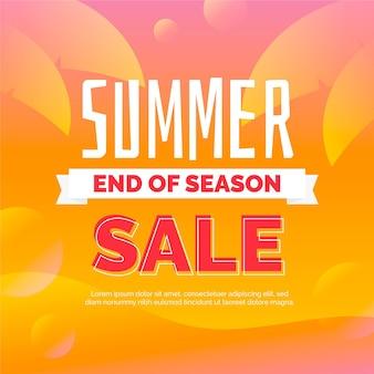 Fin de temporada banner de venta de verano
