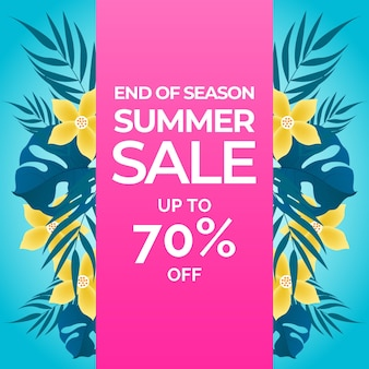 Fin de temporada concepto de venta de verano