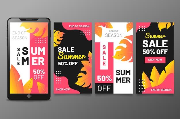 Fin de la temporada de venta de verano historias de intragram