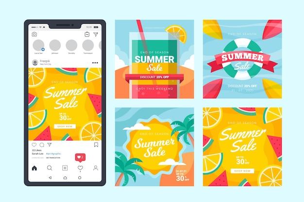 Fin de temporada verano venta instagram post collection