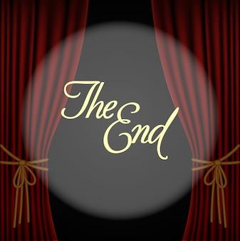 El final con una cortina roja