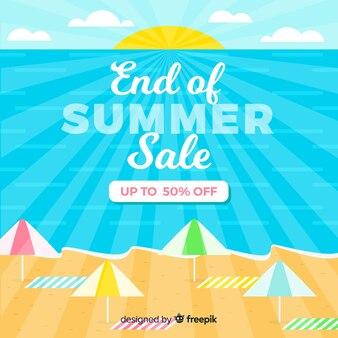 Finales de ventas de fondo de verano.
