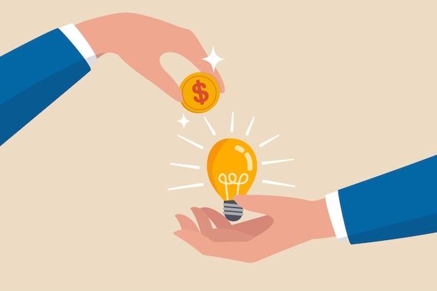 Financiación colectiva, nuevos negocios o creación de empresas para obtener dinero o capital de riesgo para respaldar