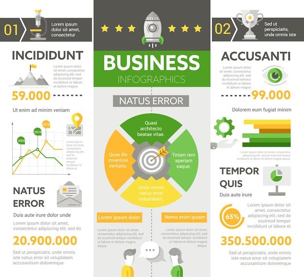 Finanzas: cartel de información, diseño de plantilla de portada de folleto con iconos, otros elementos infográficos y texto de relleno