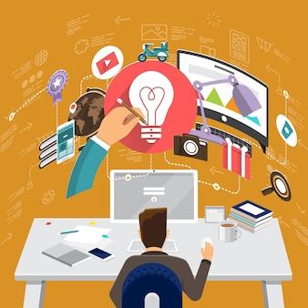 Finanzas estrategia de marketing infografía