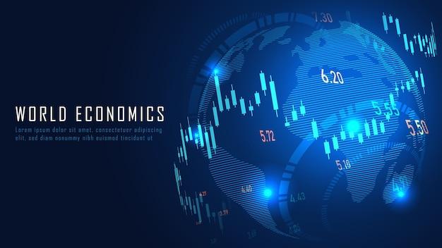 Finanzas globales en concepto gráfico