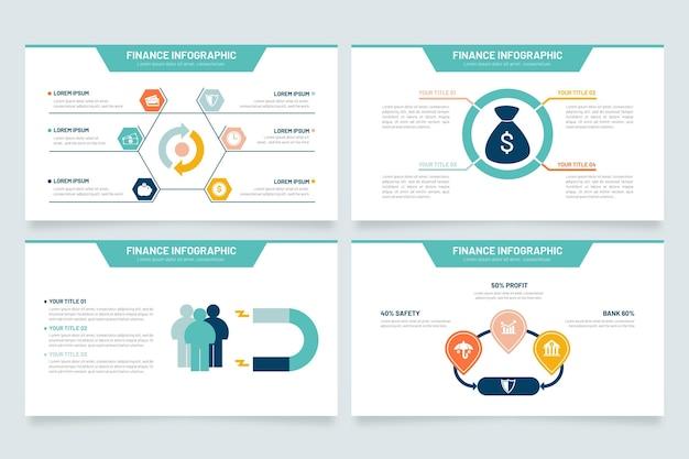 Finanzas de infografía