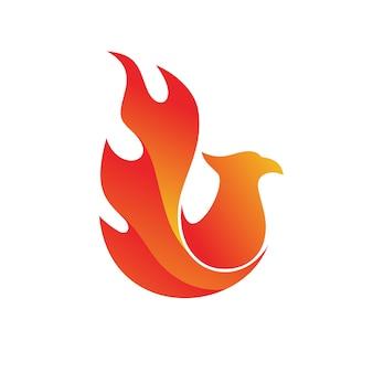 Fire phoenix logo