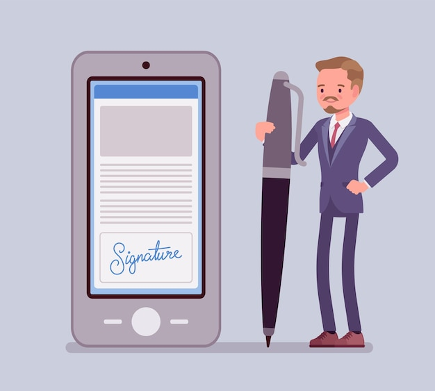 Firma electrónica en smartphone