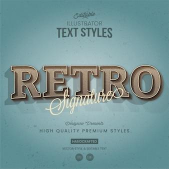Firma vintage illustrator estilo de texto