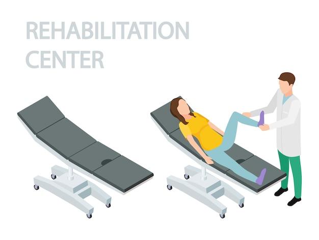 Fisioterapeuta y paciente rehabilitador