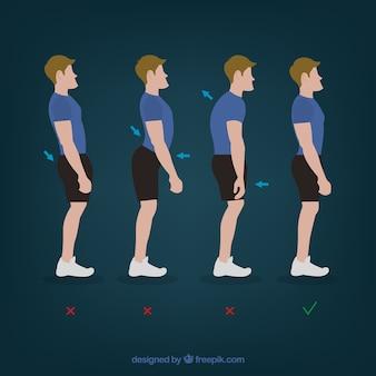 Fisioterapia lesión en la espalda posturas