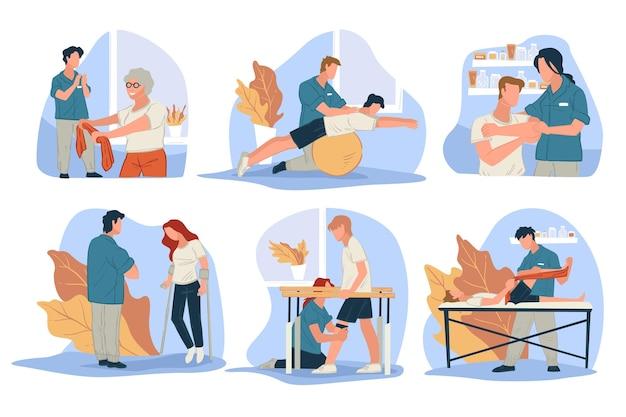 Fisioterapia para personas con lesiones.