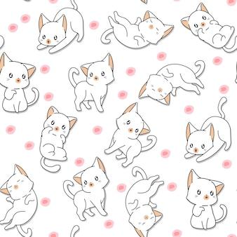 Sin fisuras muchos patrón lindo gato.