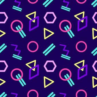 Sin fisuras patrón geométrico abstracto en estilo retro.