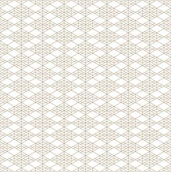 Sin fisuras patrón geométrico basado en adornos japoneses kumiko.