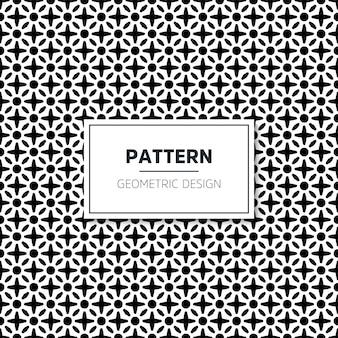 Sin fisuras patrón geométrico en blanco y negro
