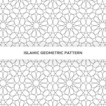 Sin fisuras patrón geométrico islámico, patrón ornamental de estilo árabe