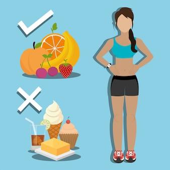 Fitness y comida sana