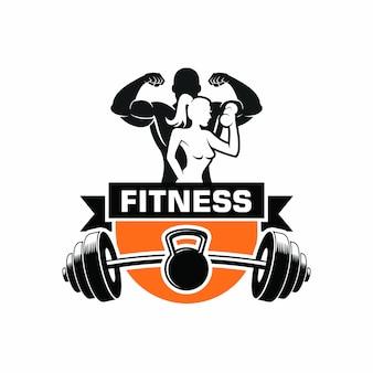 Fitness cuerpo culturismo logo