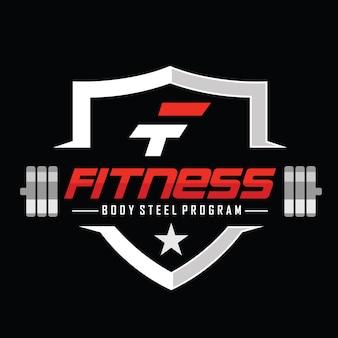 Fitness y culturismo logo diseño inspiración vector