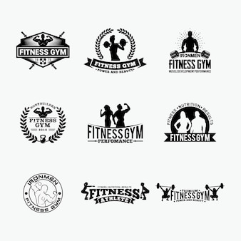 Fitness gym- badges -logos 1