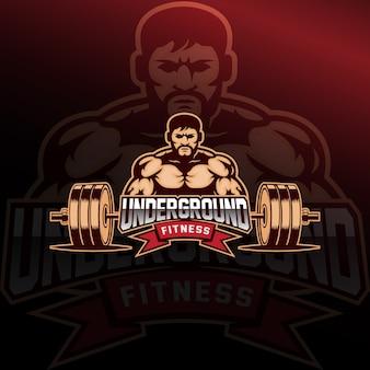 Fitness logo e deporte