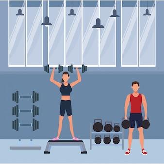 Fitness personas entrenando