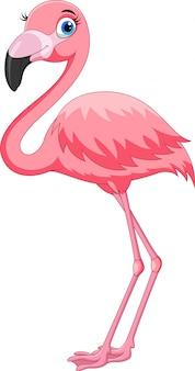 Flamenco rosado de dibujos animados