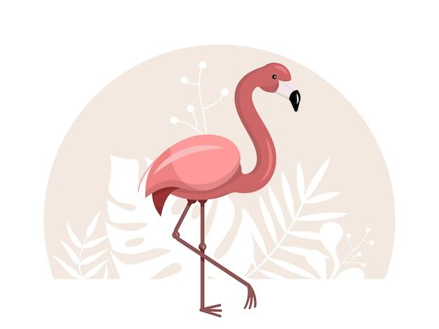 Flamingo rosa ilustracion