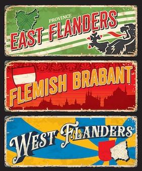 Flandes, brabante flamenco, placas de regiones belgas