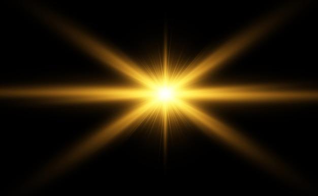 Flash de lente especial, efecto de luz. flash destellos rayos y reflector.