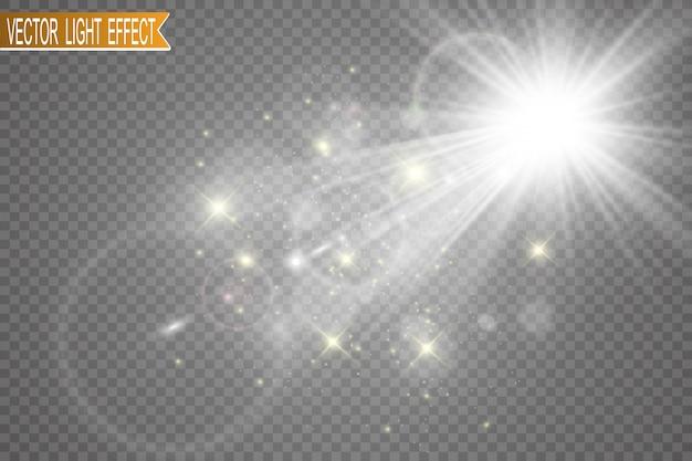 Flash de lente especial, efecto de luz.