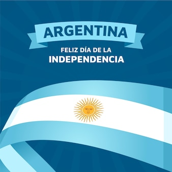 Flat 9 de julio - declaracion de independencia de la argentina illustration