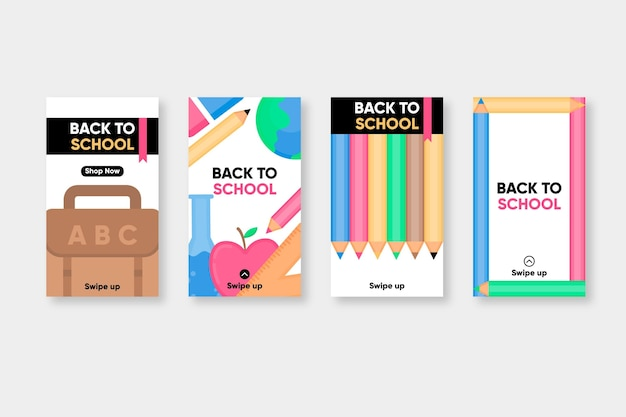 Flat back to school historias de instagram